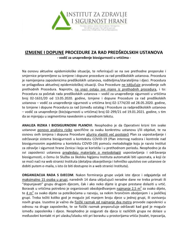 04 Izmjene i dopune Procedure za rad predškolskih ustanova, rev. 3_00001